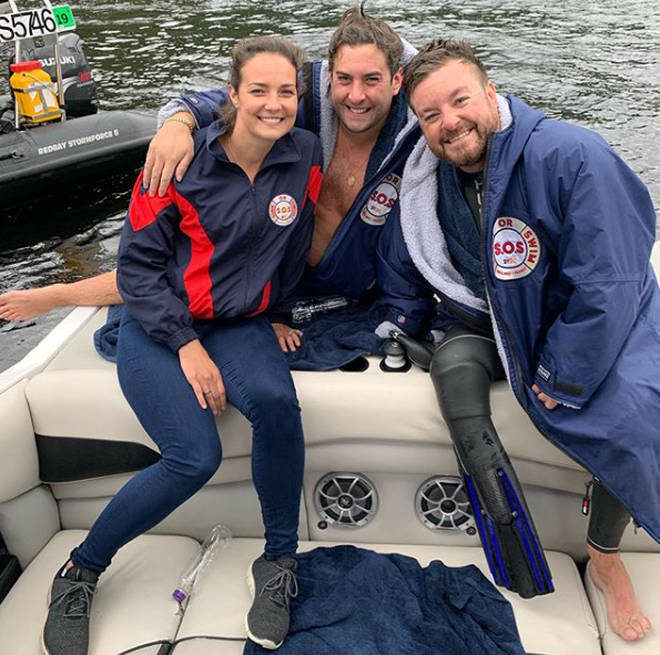 However, the star has been training with other celebrities to swim the English Channel and has apparently lost three stone in the processn