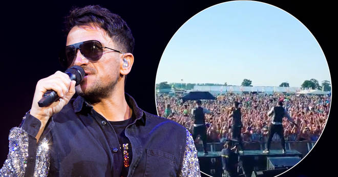 Peter Andre halted his set over the weekend