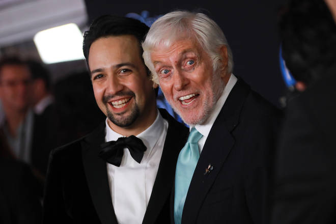 Dick Van Dyke, pictured with Lin-Manuel Miranda at the premiere for Mary Poppins