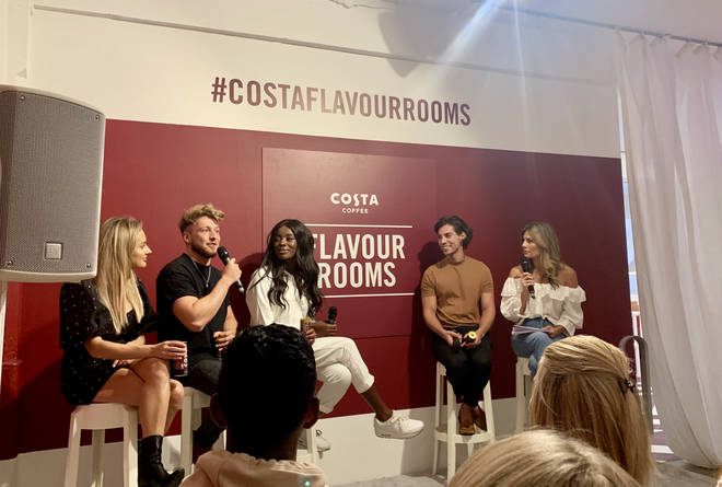 Amber was on the panel along with Made in Chelsea star Sam, presenter AJ and Celebs Go Dating Tom