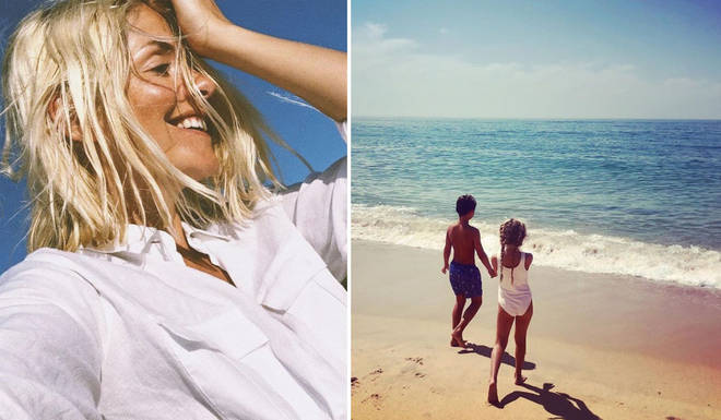 Holly Willoughby has been enjoying the summer with her family