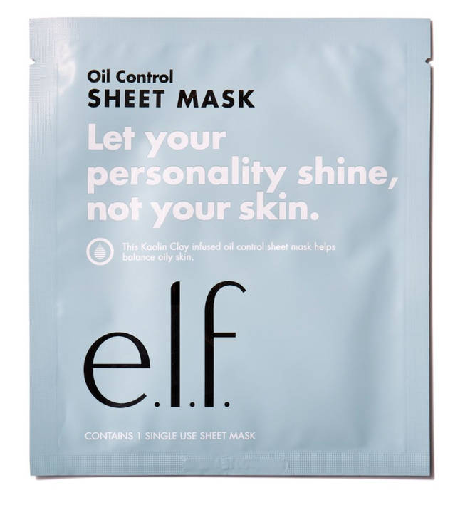 e.l.f's Oil Control sheet mask, £3