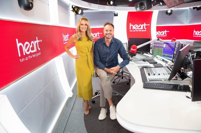 Jamie Theakston and Amanda Holden will be back on Heart Breakfast on Monday