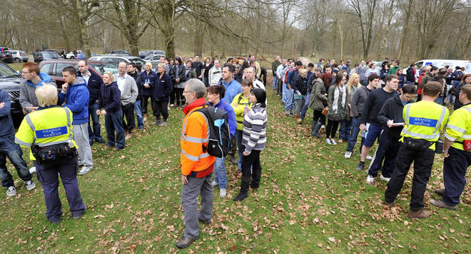 400 members of the public helped to search Savernake Forest