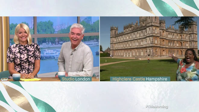 Holly and Phil spoke to Alison Hammond from Highclere Castle