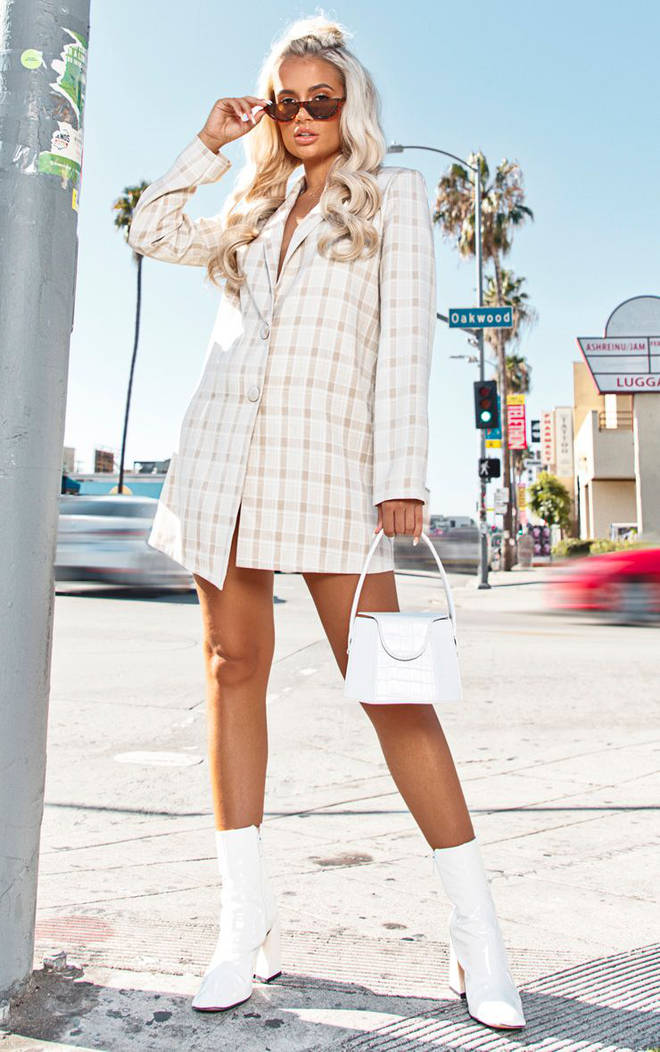 This check blazer dress is an absolute scene-stealer