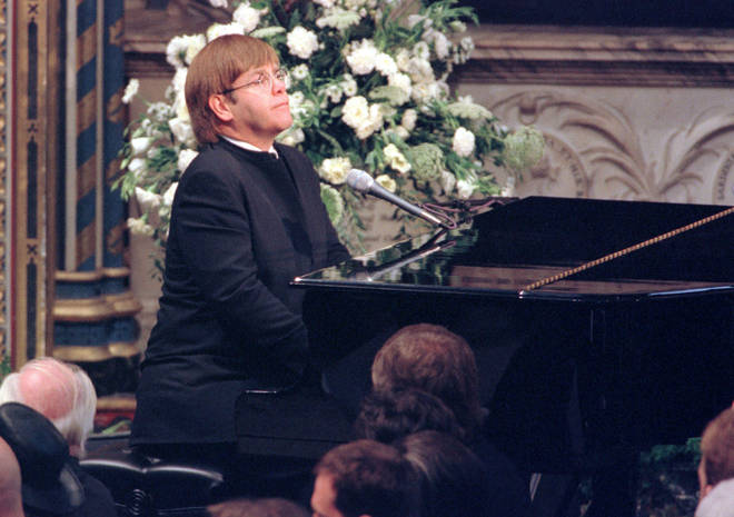 Elton performed his famous version of Candle In The Wind at Diana's funeral