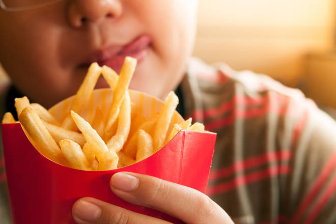 The unnamed boy lived on a diet of chips and crisps