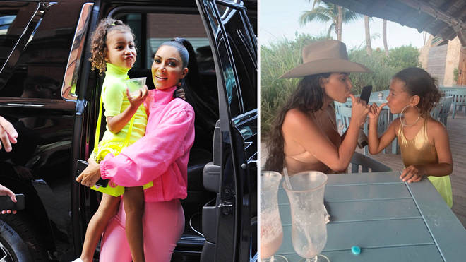 Kim K has sparked outrage with a controversial Instagram picture of her daughter