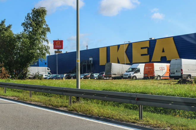 Police stood guard outside Ikea after thousands of teens looked set to descend on the store (stock image)
