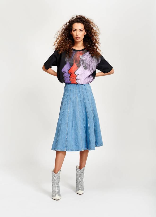 The panel skirt costs £155 from Essentiel Antwerp
