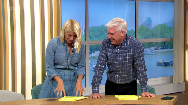 Holly and Phil could barely contain their laughter after the incident