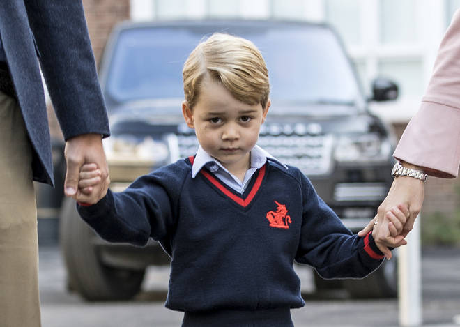 Kate Middleton was forced to miss Prince George's first day in 2017