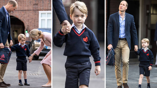 Prince George looked adorable as he arrived at Thomas's Battersea back in 2017