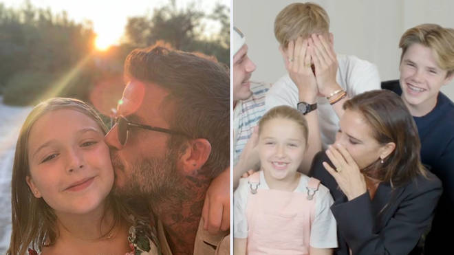 Harper Beckham has revealed which outfit of her dad's is her favourite