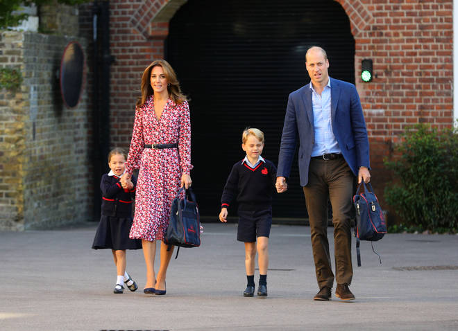 Kate's dress matched her children perfectly
