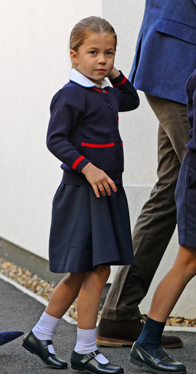 Princess Charlotte looked so grown up in her school uniform