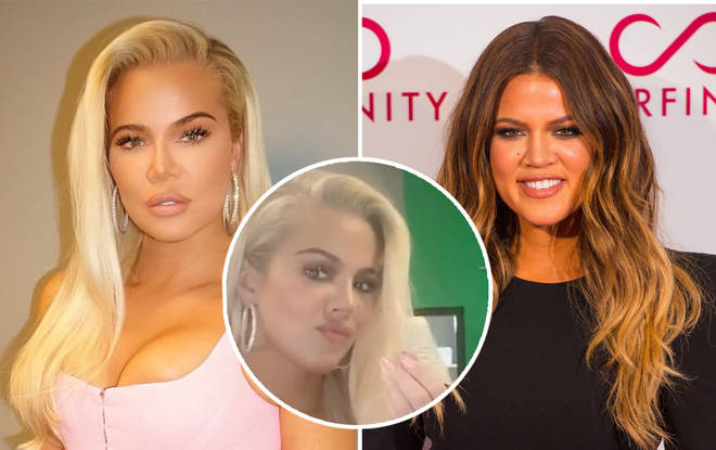 Khloe is looking stunning but fans have expressed concern