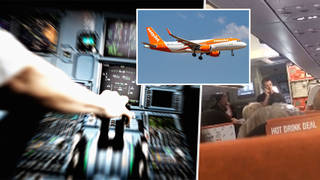 An Easyjet passenger was forced to fly a plane