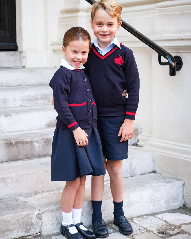 Princess Charlotte and Prince George looked grown up in their uniforms