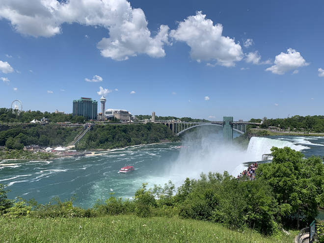 Niagara Falls, as seen from the US-side of the natural wonder