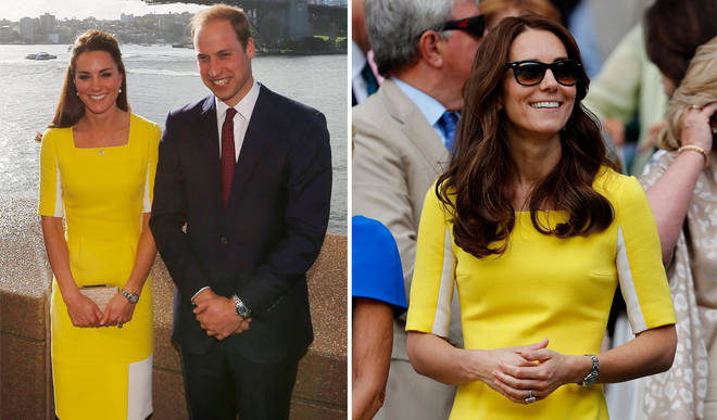 Kate wore this yellow dress in New Zealand and at Wimbledon