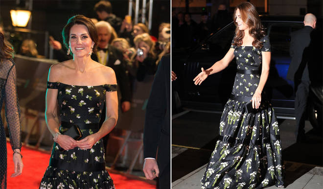 Kate looked stunning in this Alexander McQueen dress