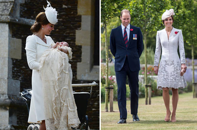 The Duchess re-wore the dress from Charlotte's christening