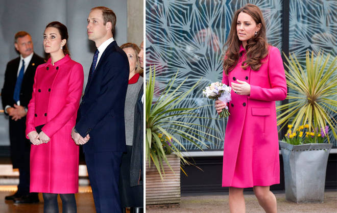 Kate has stunned multiple times in this Mulberry coat