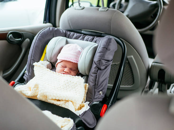 Parents are advised to take a 15 minute break every two hours when driving long distances with newborns (stock image)