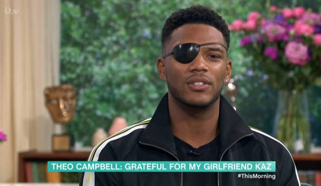 Theo Campbell sported an eye patch on This Morning following the accident