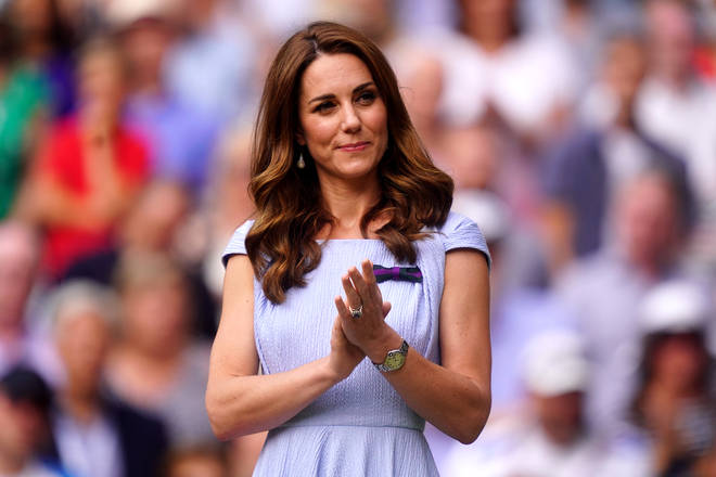 Kate sported a longer, fully brunette look a few weeks ago
