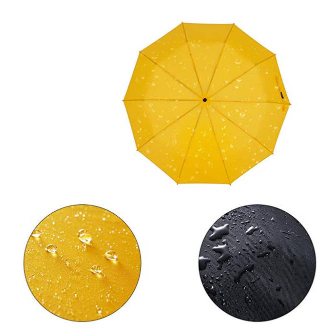 The umbrella can withstand strong winds better than its counterparts