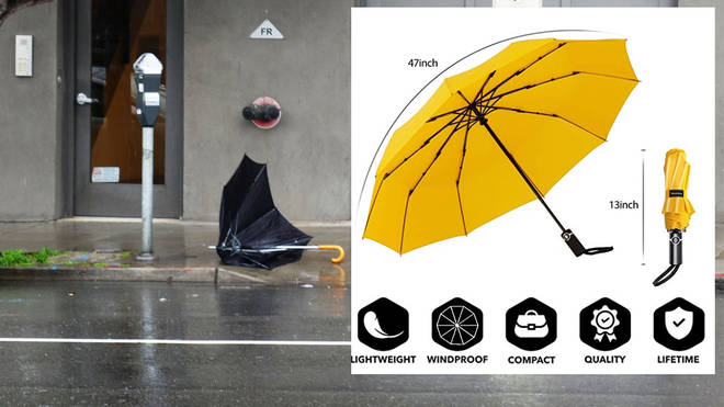 The popular umbrella was designed to withstand extreme weather