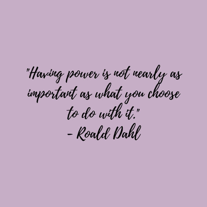 Roald Dahl on responsibility and power