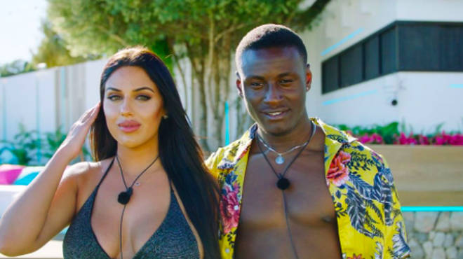 Sherif Lanre and Anna Vakili on Love Island