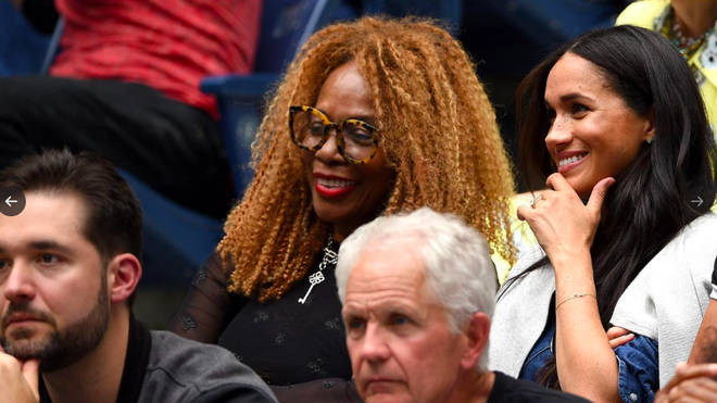 Meghan chats to Serena's mother