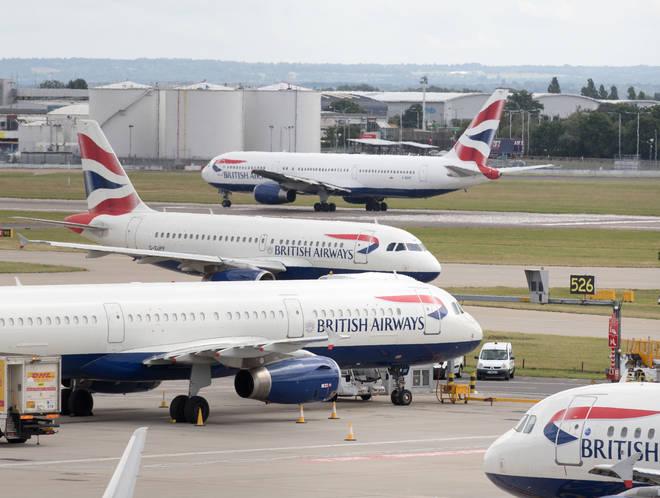 British Airways flights have been halted