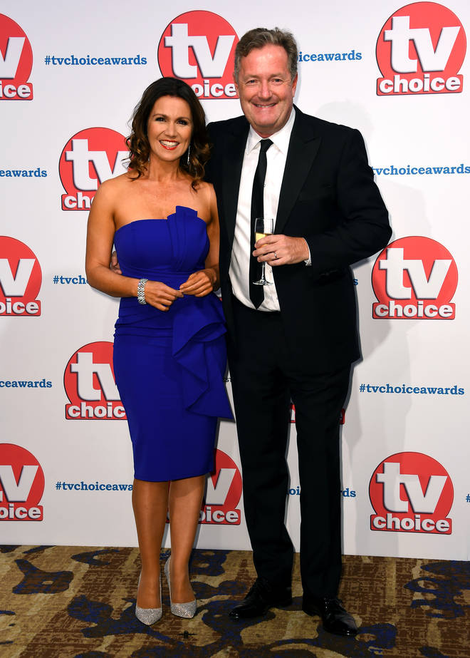 Piers Morgan attended the TV Choice Awards with Susanna Reid