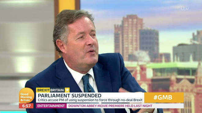 Piers Morgan ranted about the award on GMB