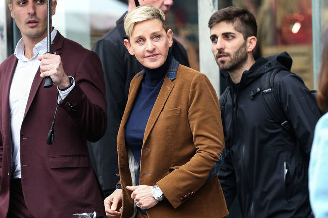 Ellen flew to the UK to visit the Sussexes