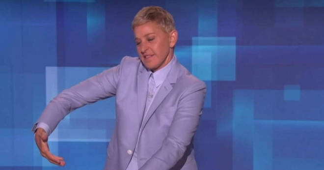 Ellen joked that she knew exactly how to hold Archie now