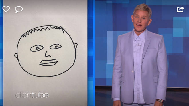 Ellen also laughed when she said she drew a picture of the young royal