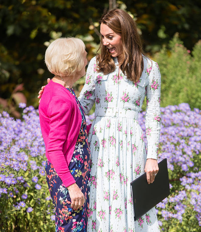 Mary Berry joined the Duchess of Cambridge, as she opened her Back To Nature garden in Surrey