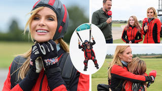 Amanda Holden took part in a skydive to raise money for Global's Make Some Noise