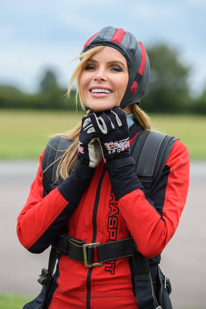 Amanda put on a brave smile ahead of her 10,000 charity jump