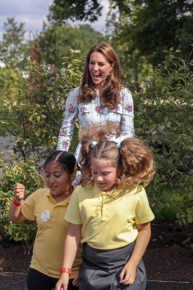 The Duchess made a speech to the families at the event, explaining why she is passionate about helping families get back to nature