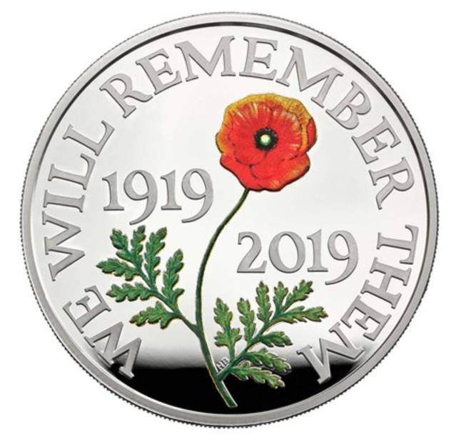 The Remembrance Day coin was designed by Harry Brockway