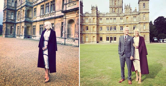 Holly looks amazing at Downton Abbey today