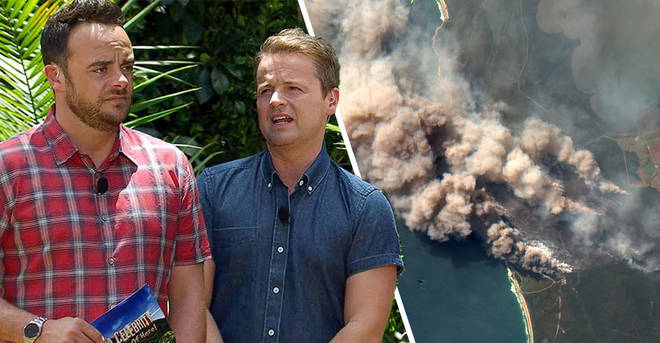 I'm A Celebrity 'in jeopardy' as wild bush fires threaten to destroy jungle camp